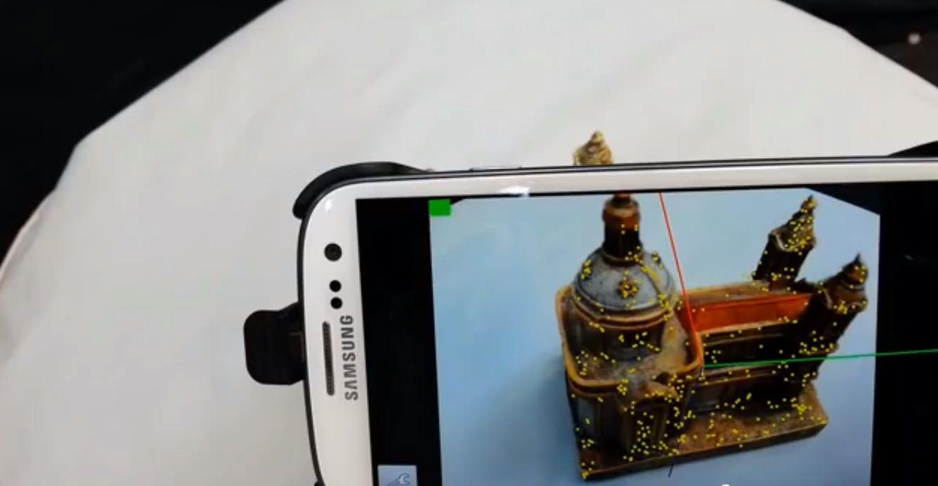 trasformiamo lo smartphone android in uno scanner 3d con un app socialandtech. Black Bedroom Furniture Sets. Home Design Ideas