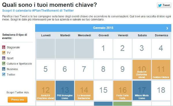 Calendario Particolare.Twitter Lancia Planthemoment Socialandtech
