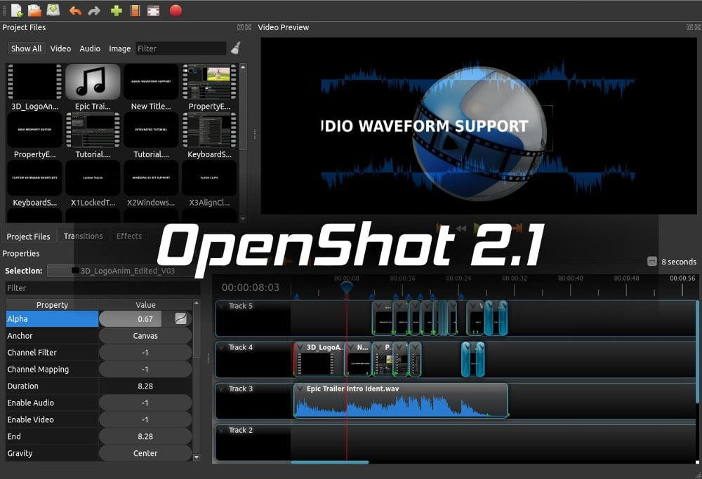 Rilasciato OpenShot 2.1, l'editor video multipiattaforma