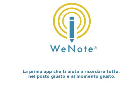 Wenote, la prima app che ti aiuta a ricordare tutto