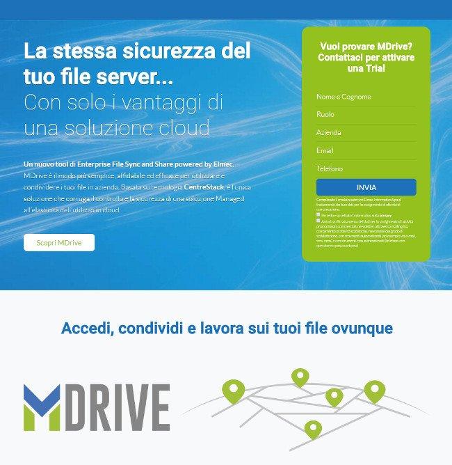MDrive la sfida italiana a Dropbox e a Google Drive per il business