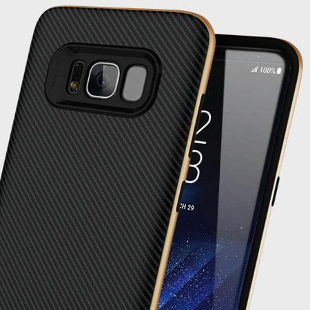 Custodia OLIXAR X-Duo Carbon Fibre Gold Samsung S8
