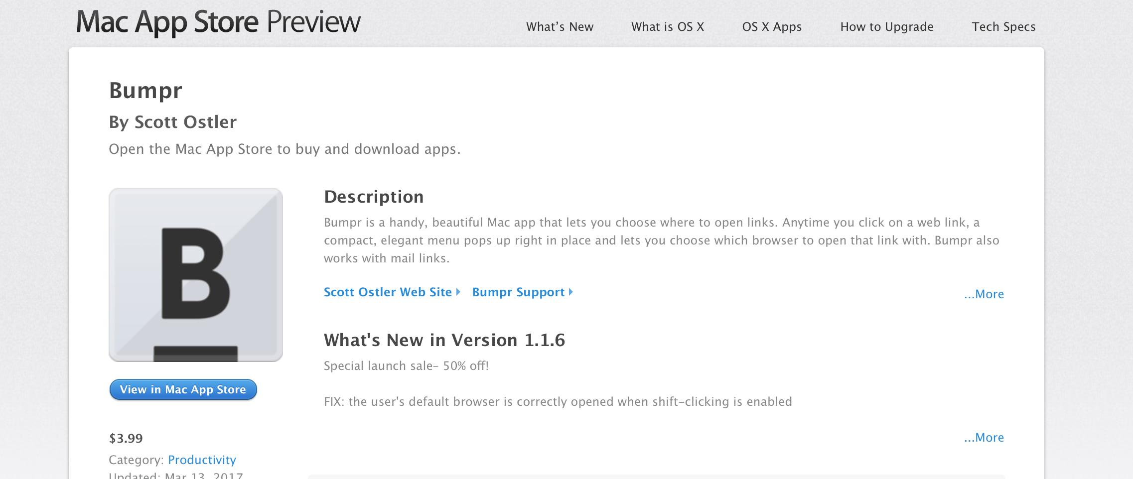 Bumpr per Mac, l'utility per aprire link al volo