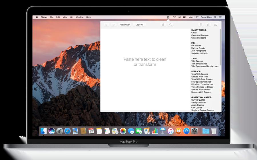 Clean Text Menu per il nostro Mac